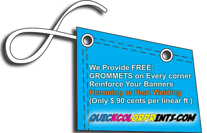 Cheap Full Color Vinyl Banners - Raleigh NC- HEMMING-AND-GROMMETS